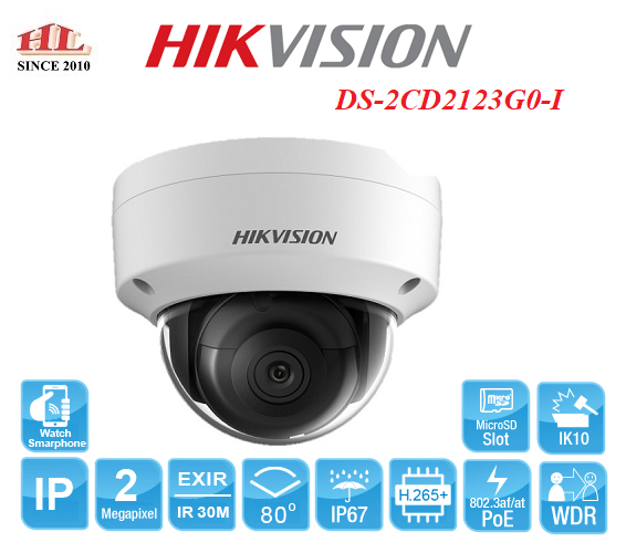 CAMERA IP 2MP HIKVISION DS-2CD2123G0-I