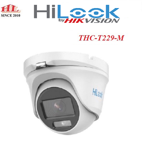 Camera Dome HD-TVI COLORVU 2.0 Megapixel HILOOK THC-T229-M
