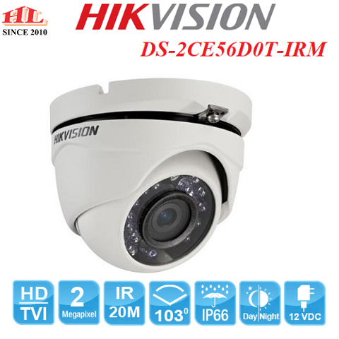 CAMERA HDTVI DOME DS-2CE56D0T-IRM (2.0MP)