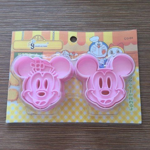 Bộ Cookies Cutter 3D Bánh Quy 2 Chiếc Mickey