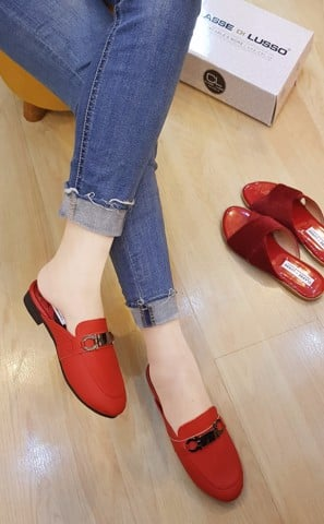 SLIPPER MOCCASIN HOTEI RED SPM001R