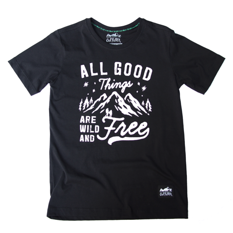 Áo thun outdoor  - ALL GOOD THINGS OR WILD AND FREE - T-SHIRT