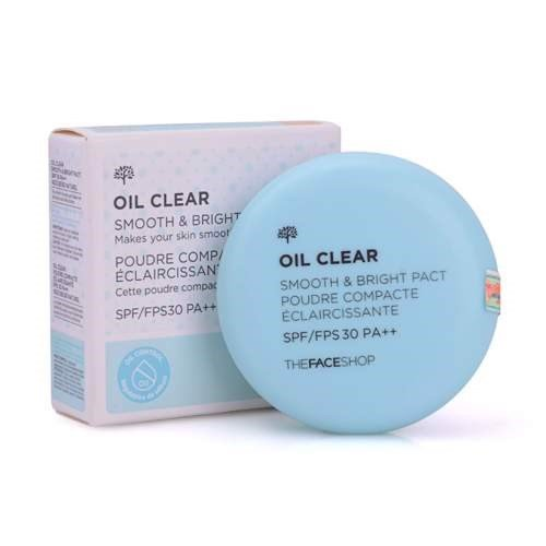 Phấn nén kiềm dầu The Face Shop Oil Clear
