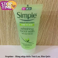 Sữa rửa mặt Simple Kind To Skin Refeshing Facial Wash 150ml