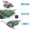 Card PCI-E 1X to 4 Port RS232 Moxa CP-104EL-A