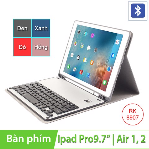 Bao da bàn phím bluetooth cho Ipad Pro 9.7 inches | Ipad Air 1 | Air 2 BOW RK8907