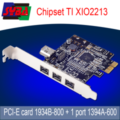 Card PCI-E 1X to Firewire 800 (1394B+A)