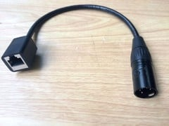 Cáp Cannon XLR5 Male to RJ45 Female 0.3m
