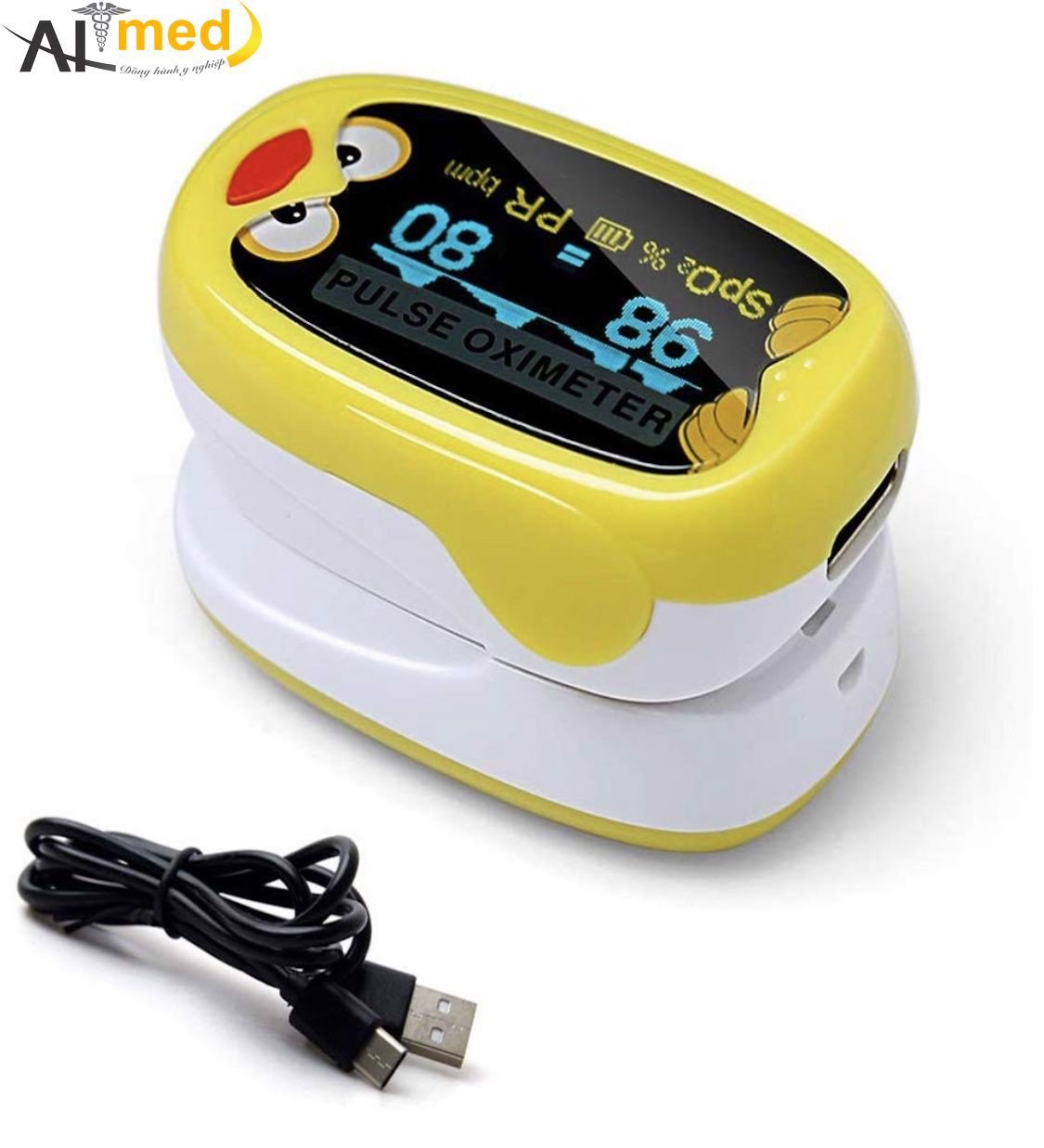 Fingertip Pulse Oximeter, Portable SpO2 Blood Oxygen Monitor for 1-12 Years  Old Children