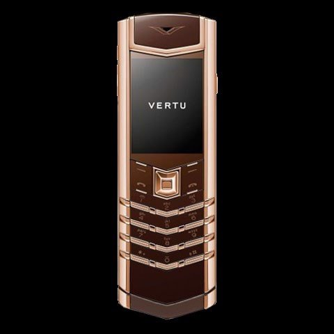 Vertu Signature S Red Gold, Brown Leather