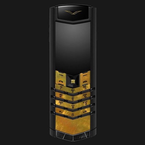 Vertu Signature S Gold Mother of Pearl Black