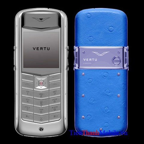 Vertu Exotic Light Blue Ostrich