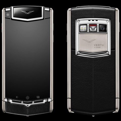 Vertu Ti Black Leather