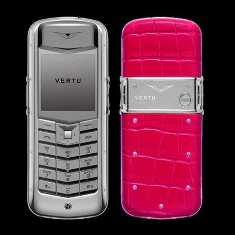 Vertu Exotic Alligator Pink