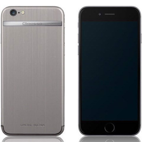 Gresso Model G1 - cho iPhone 6, 64GB, Titanium logo,Titanium case
