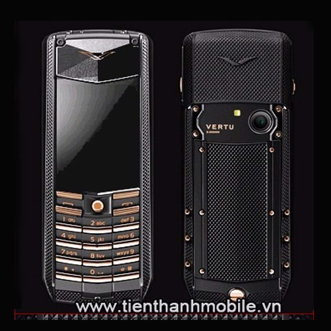 Vertu Ascent X Titan Black Knurl Red Gold