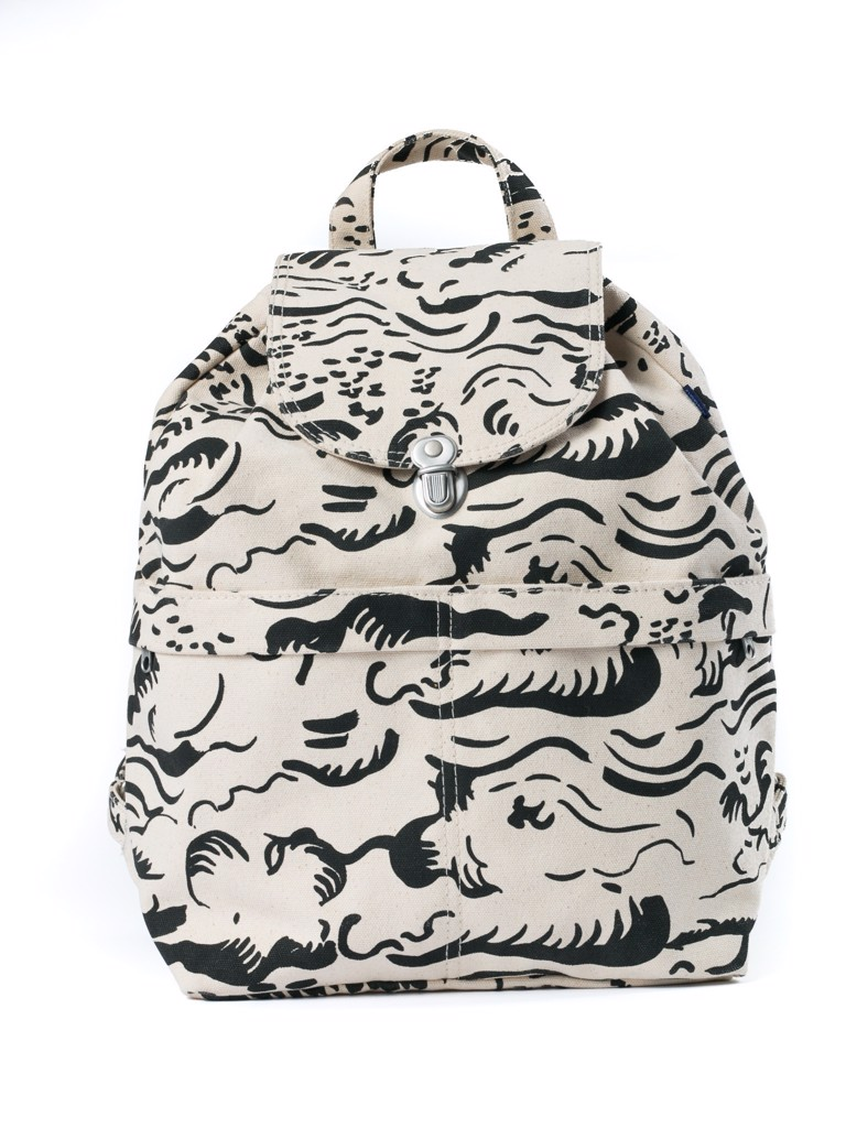 Baggu Canvas Backpack In Natural Cloud