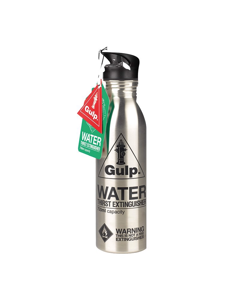 Silver Glugg Water Bottle