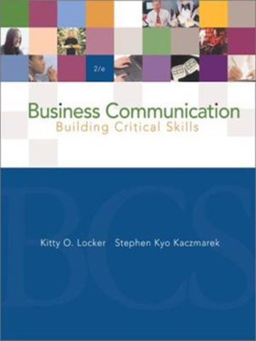 Business Communication: Building Critical Skills, 5e IE