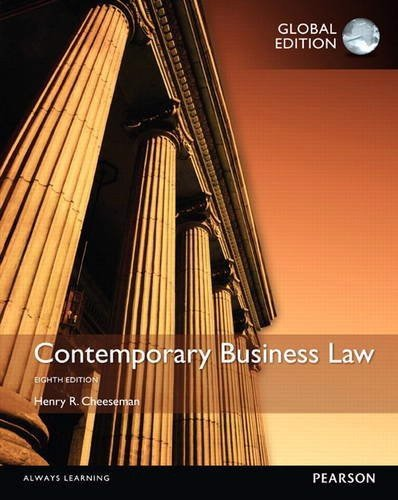 Contemporay Business Law: Uk Edition 8th Edition