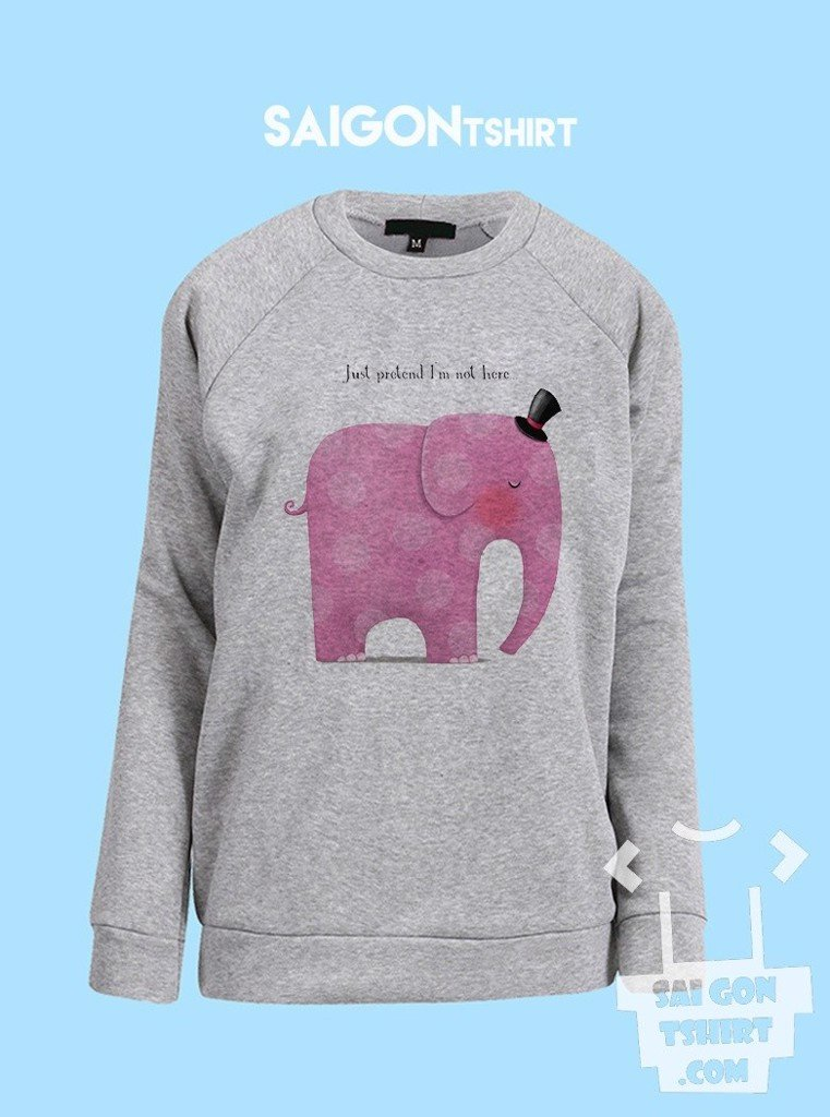 Áo ấm sweater Voi hồng ở trong phòng - Pink elephant in the room - Pink elephant in the room - sweater-072
