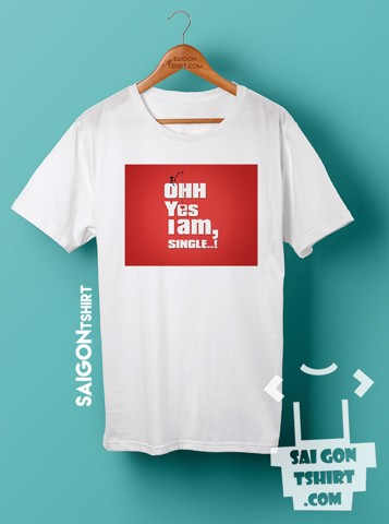 Áo thun single quotes - single valentine - SI - Tshirt-232
