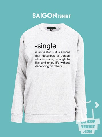 Áo ấm sweater Định nghĩa single - Definition of single - single valentine - SI - Sweater-230