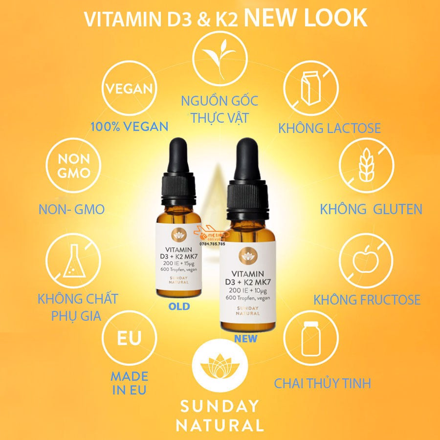Vitamin D & K2 Sunday Natural (new)