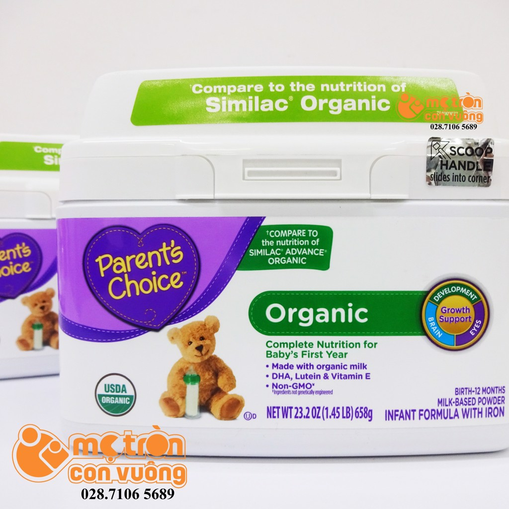 Sữa bột Parent's Choice Organic 658gr