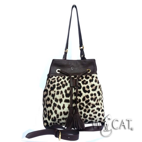 10722016 -  SNAKE-EMBOSSED / HAIRY BUCKET Bag