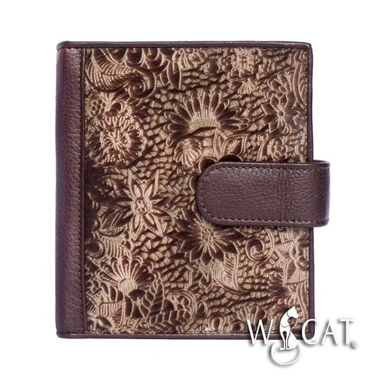 20622016 COW HAIR FLORAL LAZER CUT WALLET