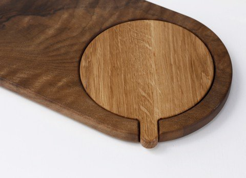 Oval Tray with Cutting board