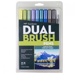 ABT Dual Brush Pen Set 10 Lanscape