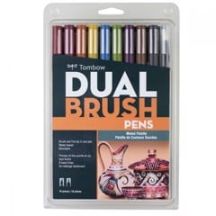 ABT Dual Brush Pen Set 10 Muted