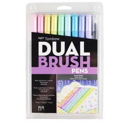 ABT Dual Brush Pen Set 10 Pastel