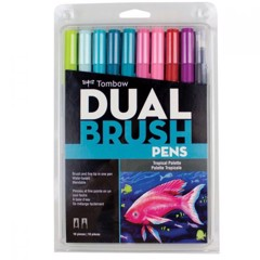 ABT Dual Brush Pen Set 10 Tropical