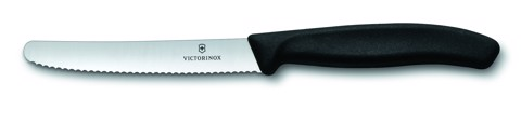 Victorinox Tomato and sausage knives (wavy edge) black