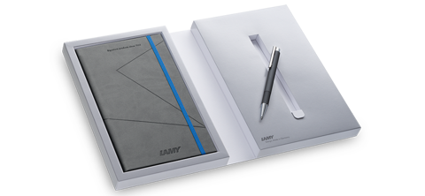 Lamy logo M+ limited set notebook pen