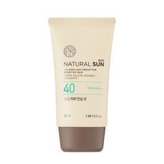 The Face Shop Natural Sun Calming Sun Cream For Sensitive Spf 40