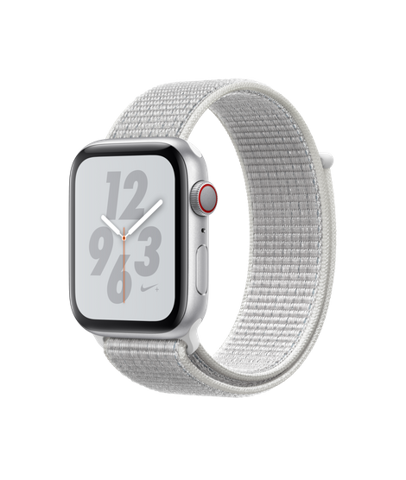 Apple Watch Nike+Series 4 (40mm) + 4G Silver Aluminum Case with Summit White Nike Sport Loop