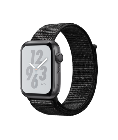 Apple Watch Nike+Series 4 (44mm) Space Gray Aluminum Case with Black Nike Sport Loop