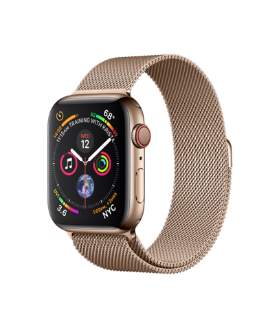 Apple Watch Series 4 (40mm) + 4G Gold Stainless Steel Case with Gold Milanese Loop