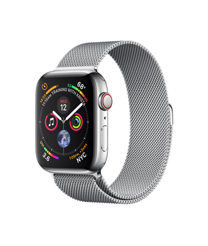 Apple Watch Series 4 (44mm) + 4G Stainless Steel Case with Milanese Loop