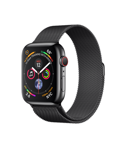 Apple Watch Series 4 (40mm) + 4G Space Black Stainless Steel Case with Space Black Milanese Loop