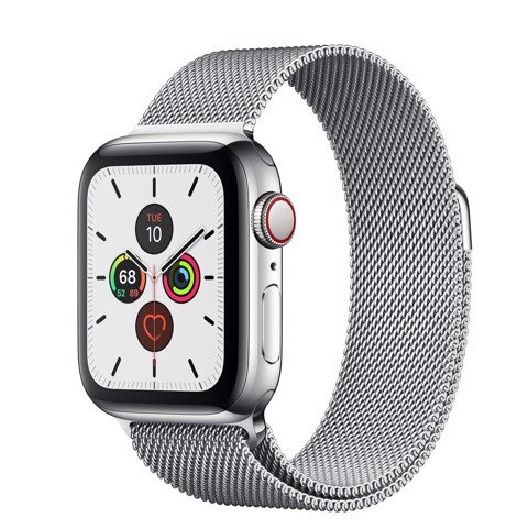 Dây Thép Trắng Apple Watch 42/44mm Stainless Milanese Loop