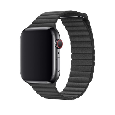 Dây Da Đen Apple Watch Chính Hãng 42/44mm Black Leather Loop