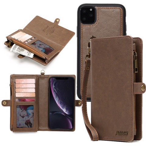 Ốp Lưng Megshi Multifunctional Wallet Cho iPhone 11 Pro