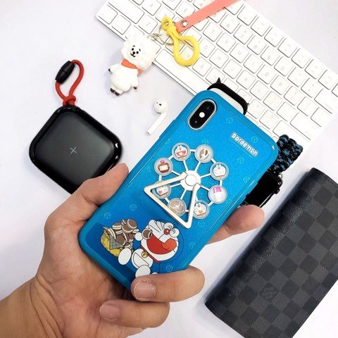 Ốp Lưng Rock Bear Doraemon Cho iPhone Xs Max