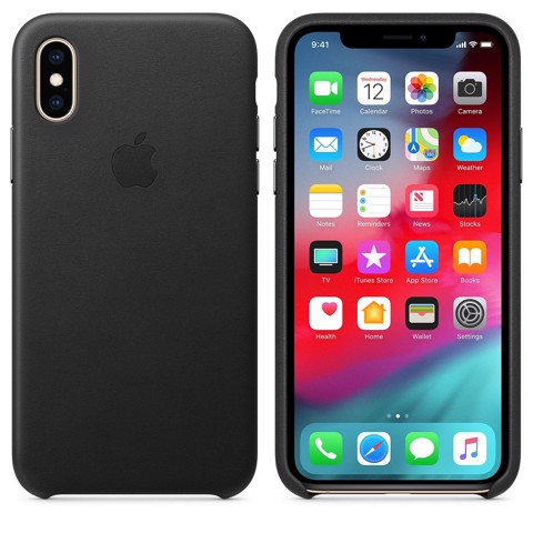 iPhone XS Leather Case - Black