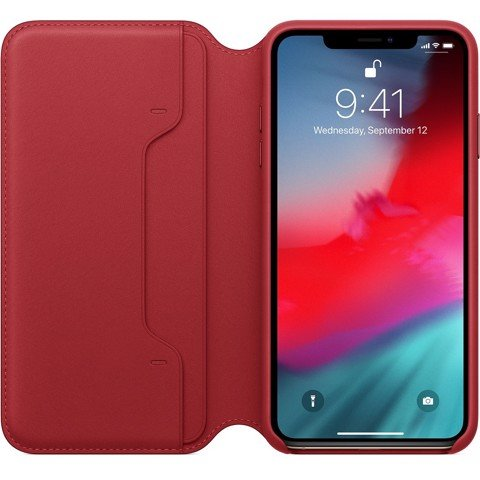 iPhone XS Max Leather Folio - (PRODUCT)RED